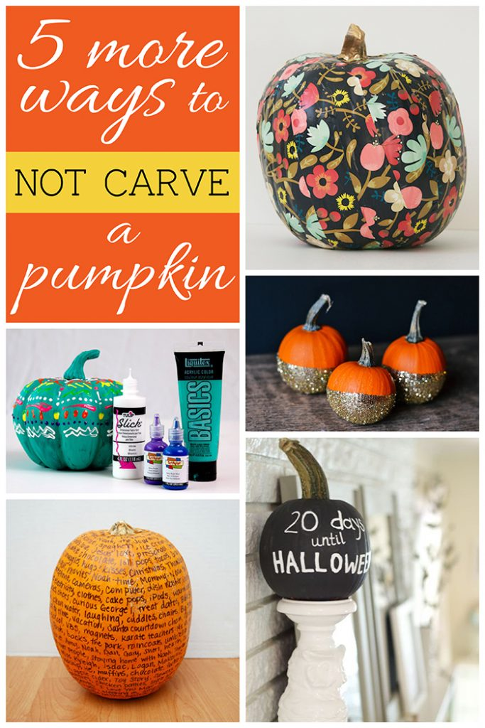 5 More Ways to NOT Carve a Pumpkin
