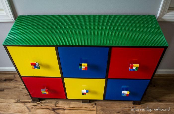 DIY lego dresser