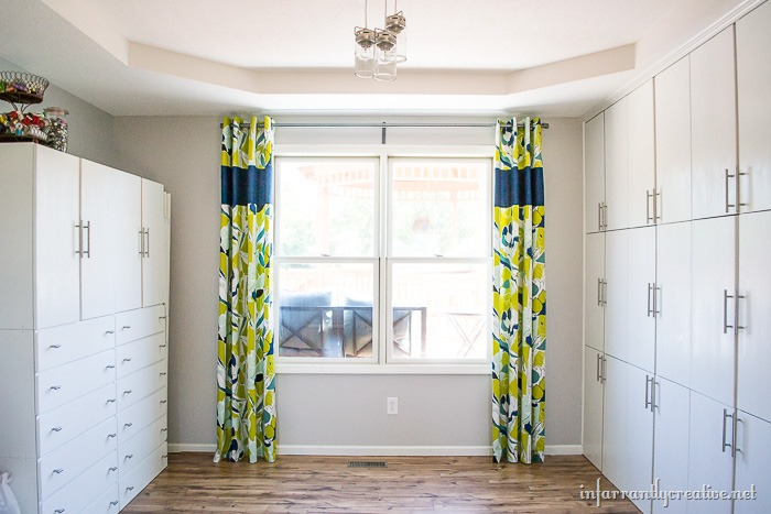 SEWING adding length to curtains with a middle panel