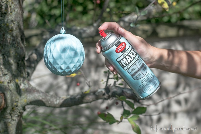 spray-painted-ornaments
