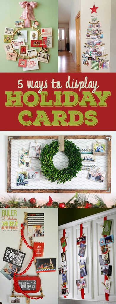 5 Ways to Display Holiday Cards