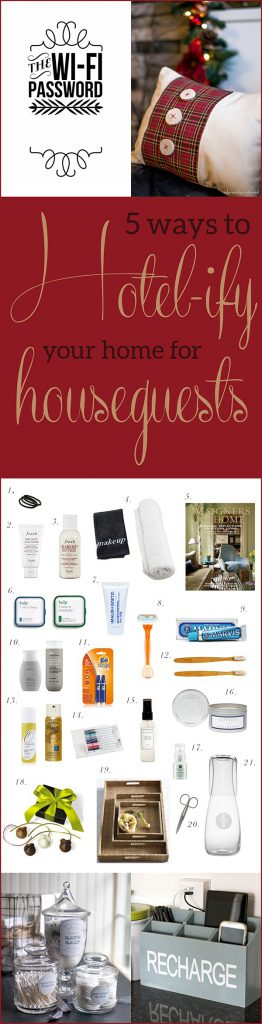 5 Ways to Hotel-ify Your Home for Houseguests