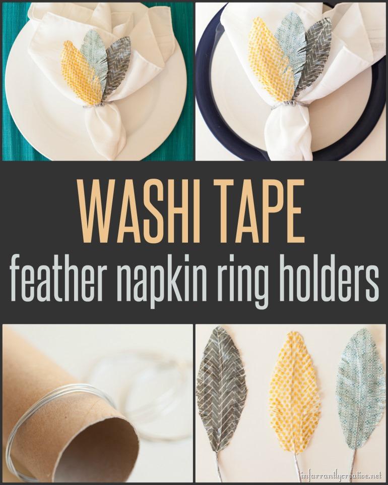 Washi Tape Napkin Holders