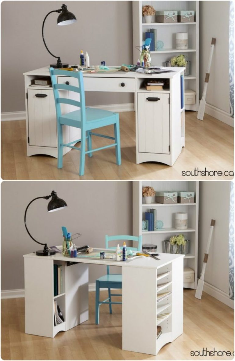Craft tables you can buy instead of diy infarrantly creative for Counter height craft table with storage