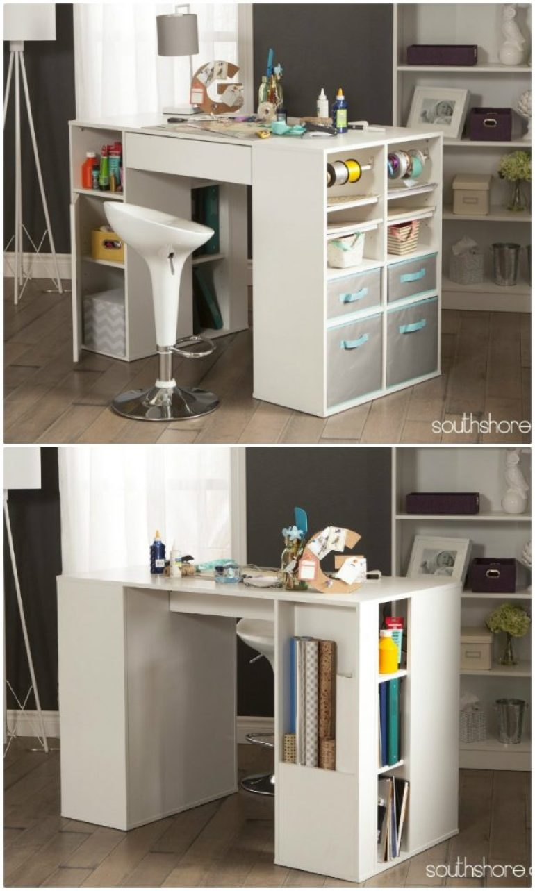 craft desk with storage craft tables you can buy instead of diy infarrantly creative 3764