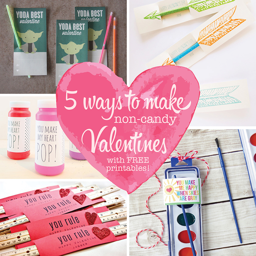 5 Ways To Make Non Candy Valentines With Free Printables