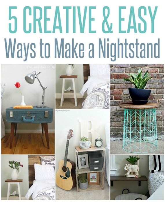 DIY Furniture ~ 5 Creative and Easy Ways to Make a Nightstand