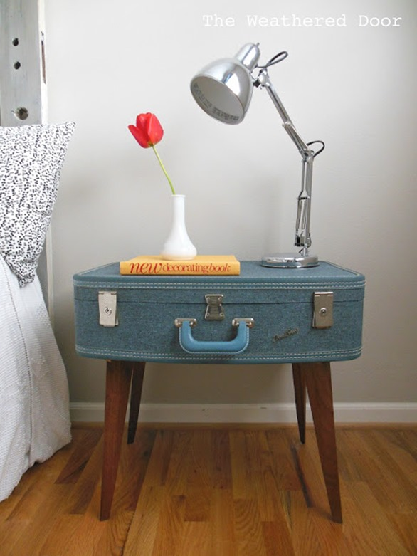 DIY Furniture ~ Turn a vintage suitcase into a nightstand!