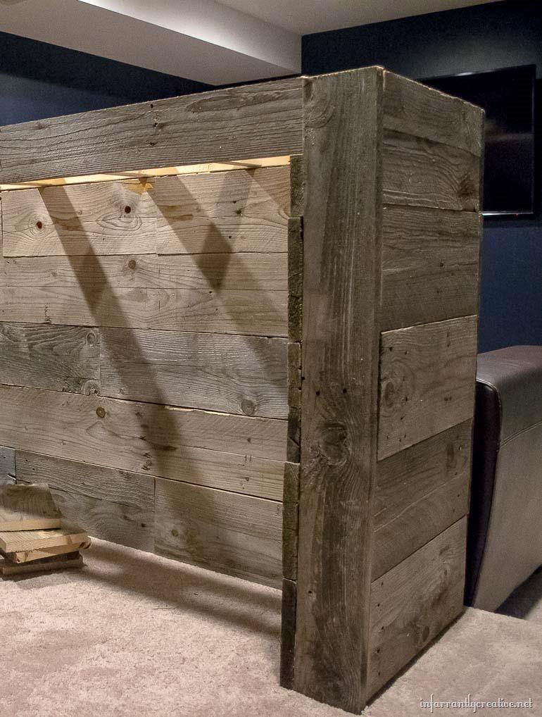building a reclaimed wood bar