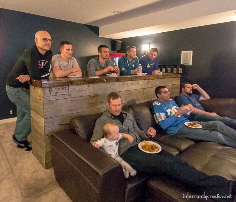 Used Man Cave Bar : Man cave wood pallet bar free diy plans infarrantly