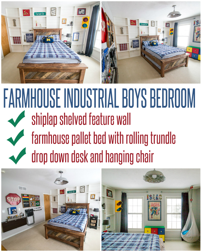 Farmhouse Industrial Boys Bedroom