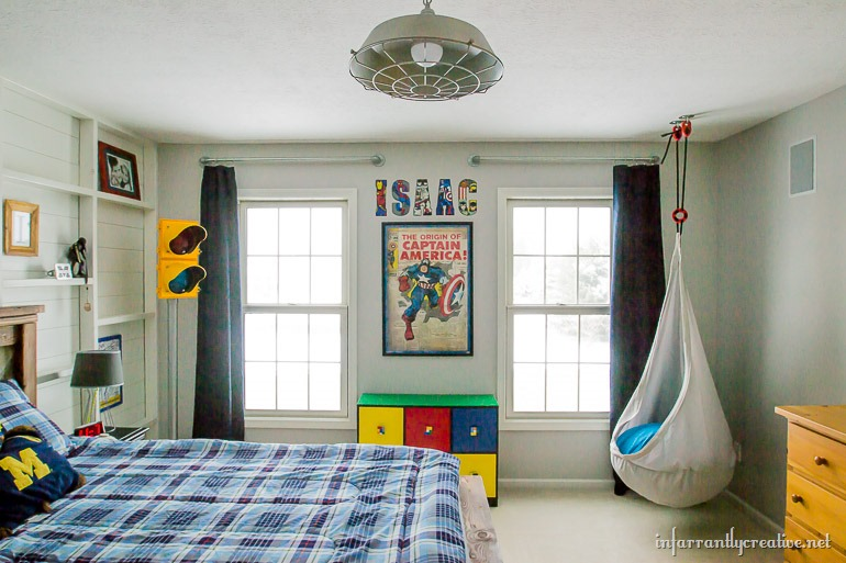 boys industrial bedroom decor ideas