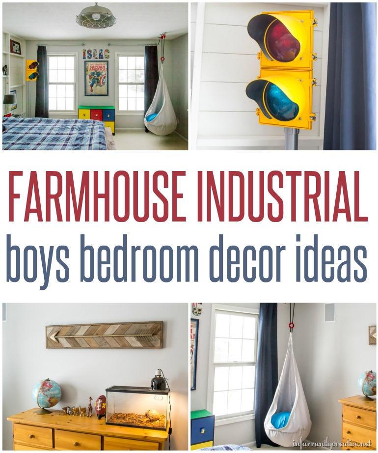 Boys Industrial Bedroom Decor