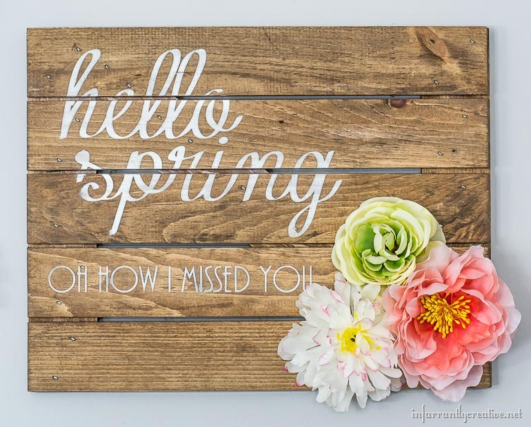 flowers spring sign