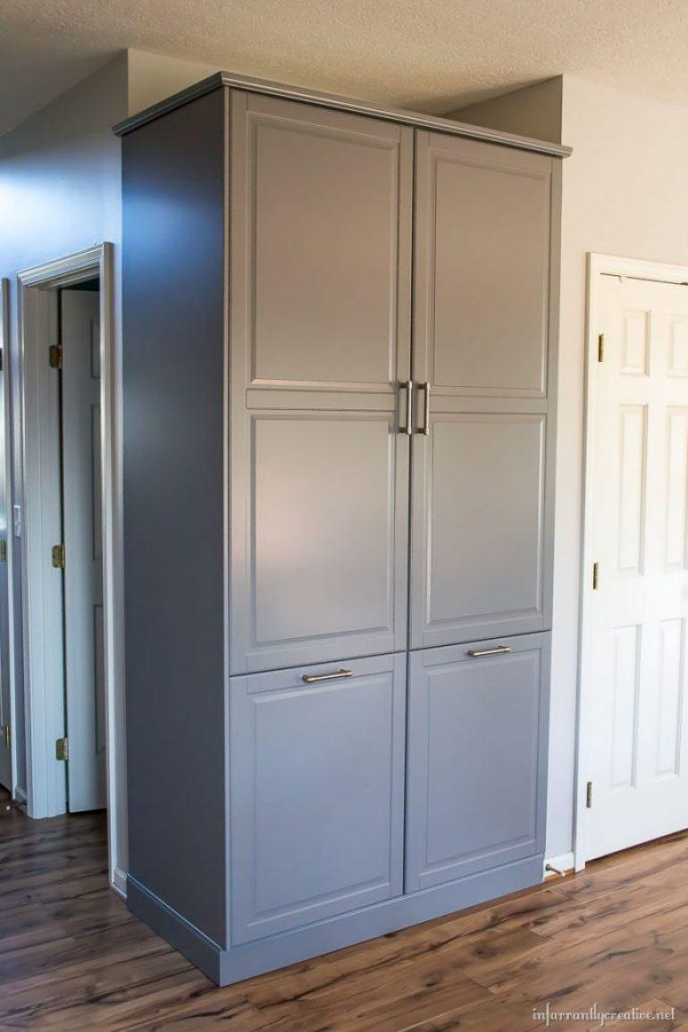 ikea-bodbyn-gray-pantry