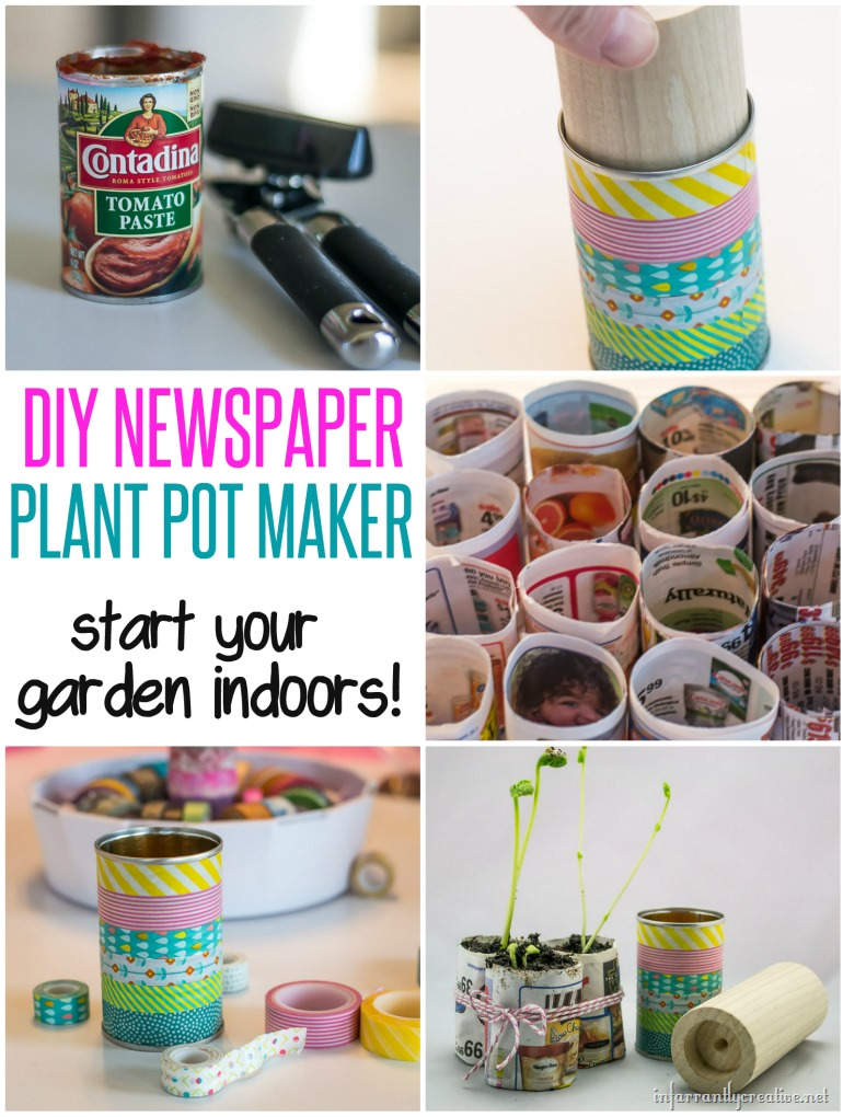 DIY Plant Pot Maker with Newspaper