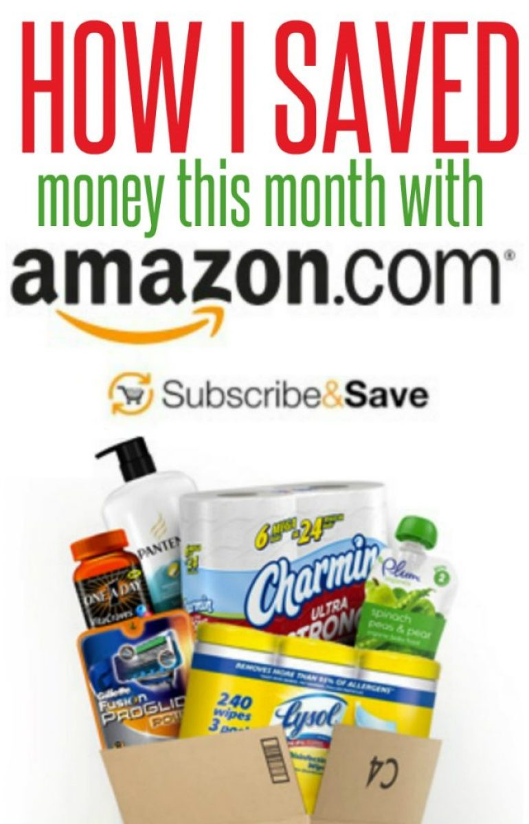 how I save money with Amazon subscribe and save