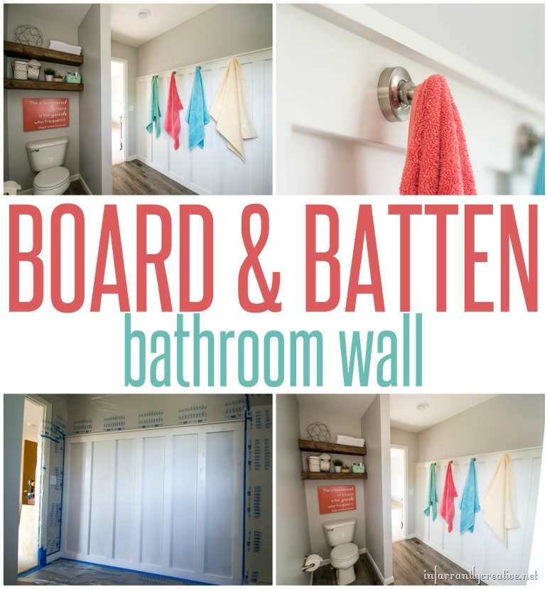 Board & Batten Bathroom Towel Wall