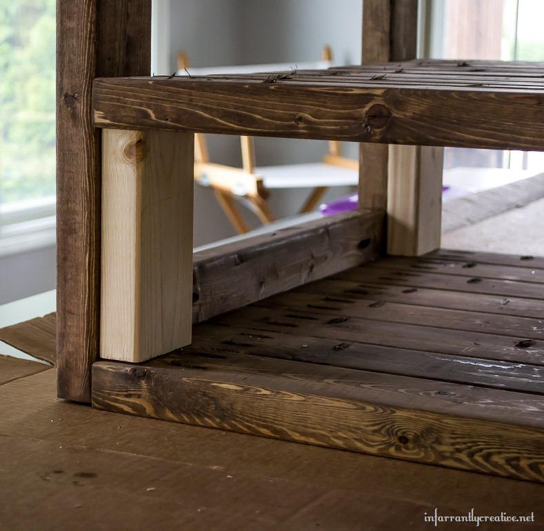DIY end table cart plans