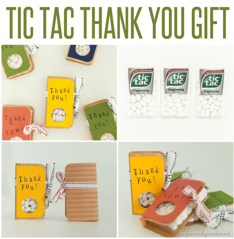 Thank you gift with tic tacs