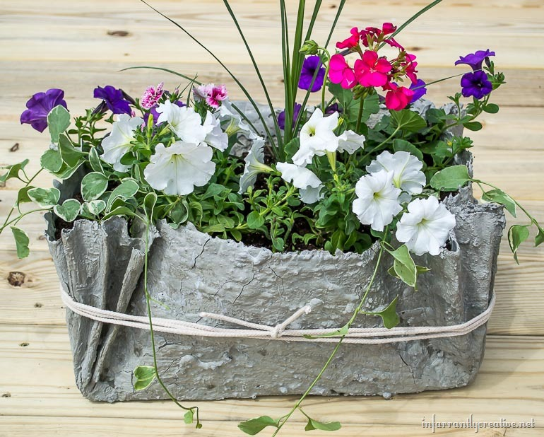cement-fabric-planter-pot