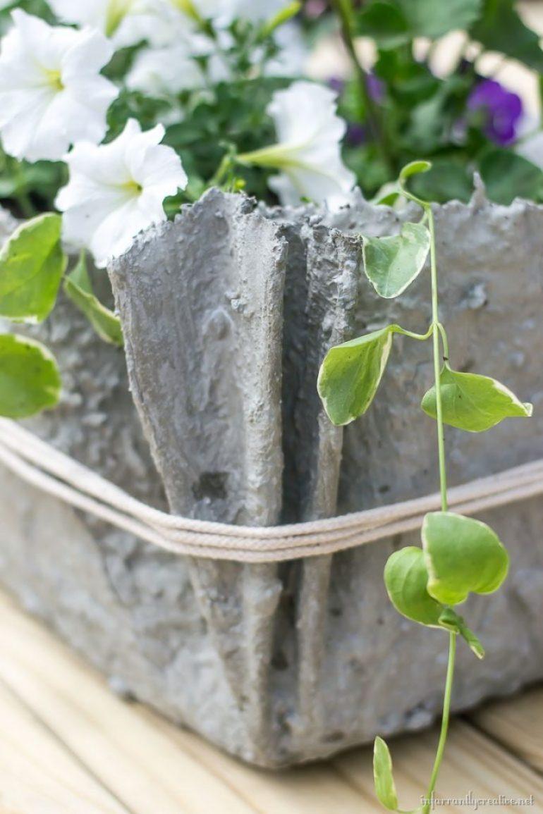 fabric-cement-planter
