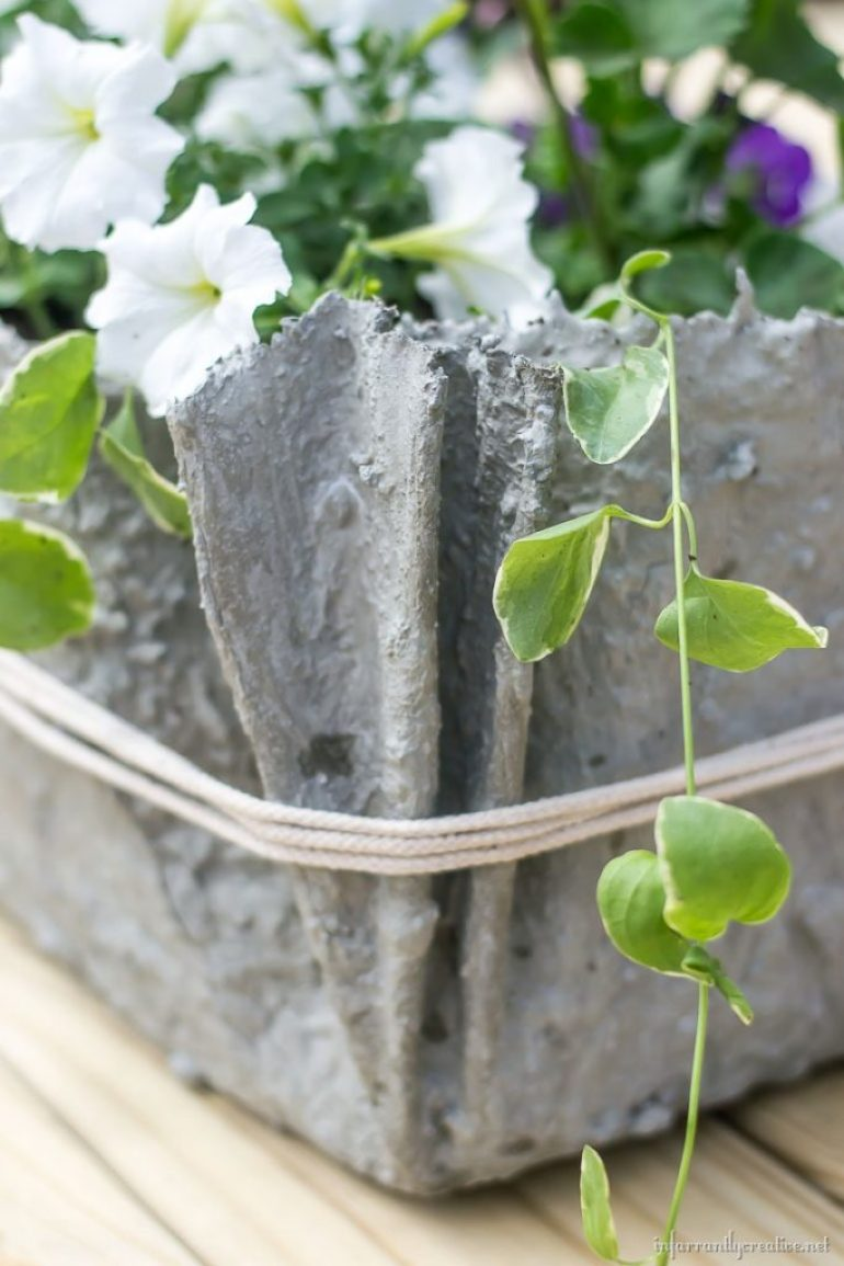 fabric-cement-planter