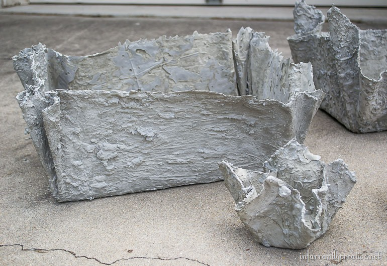 fabric-concrete-planters