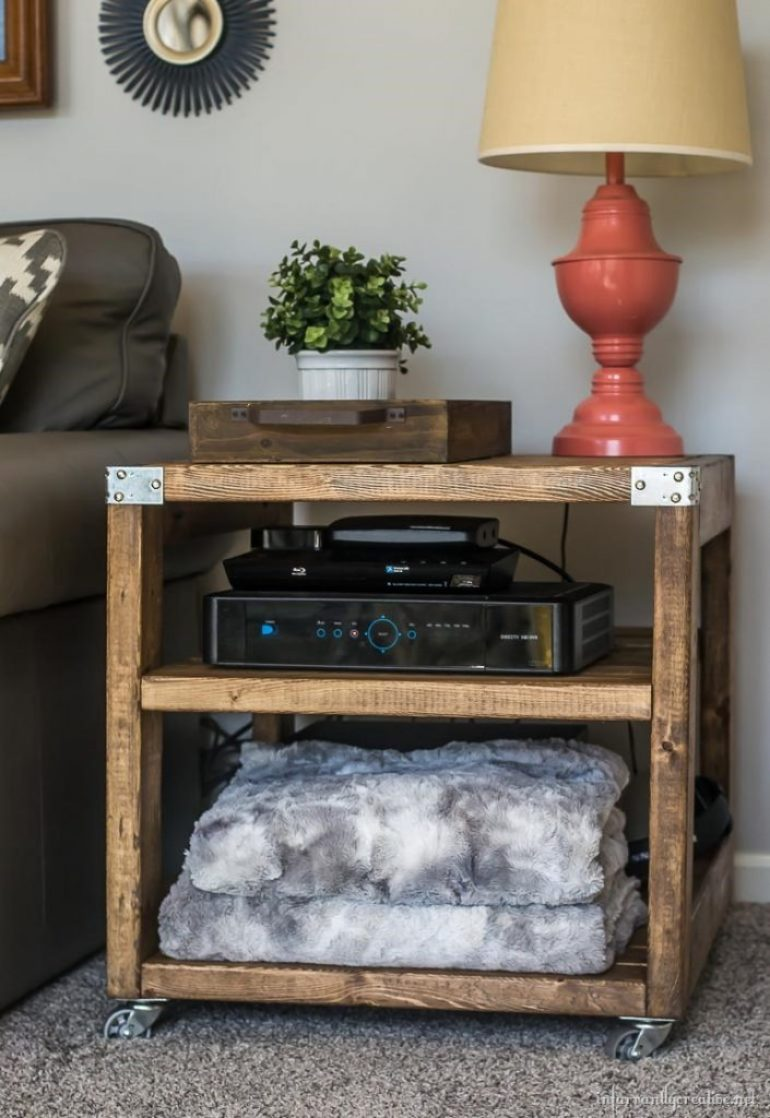 industrial farmhouse end table