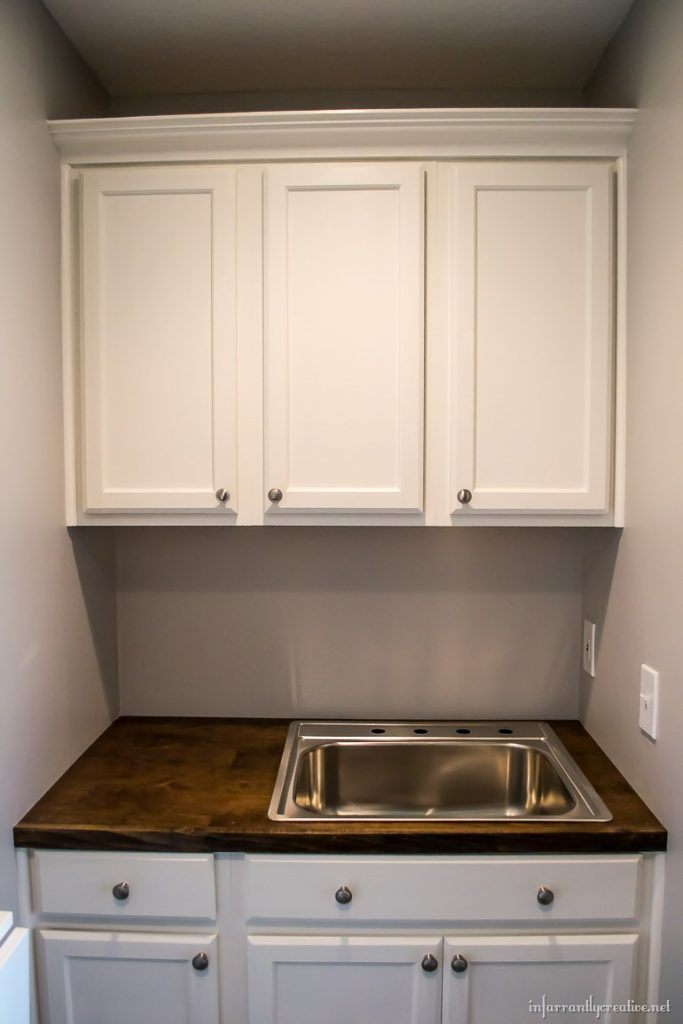 Laundry Room Cabinets {Small Space Laundry Room Area} on Laundry Cabinets  id=76303