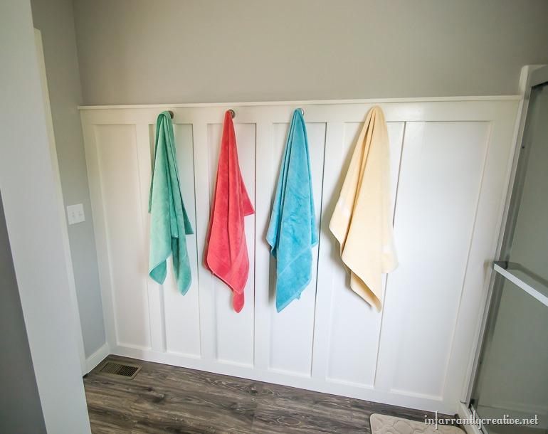towels on hooks