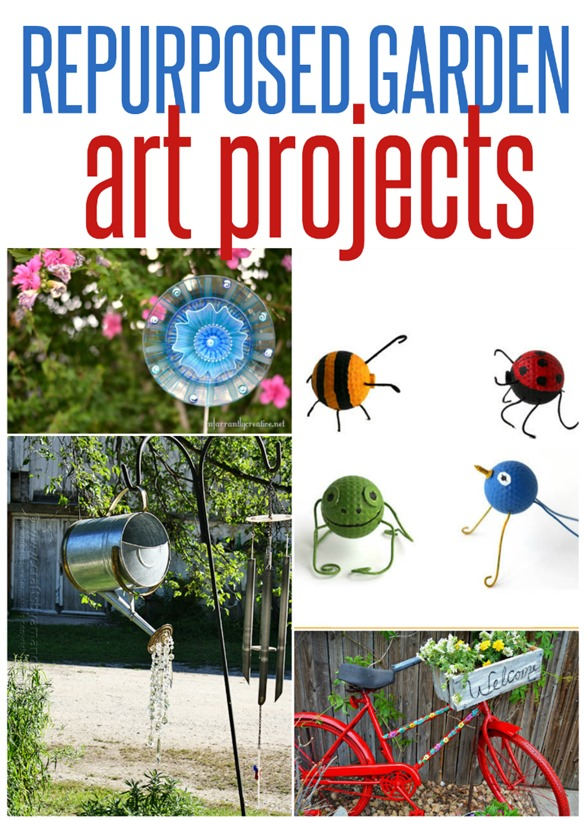 Creating a beautiful garden doesn't have to cost a lot. Check out these creative DIY garden art projects that are all made from repurposed items!