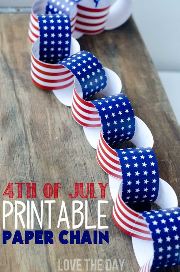 Free Fourth of July Printable Paper Chain