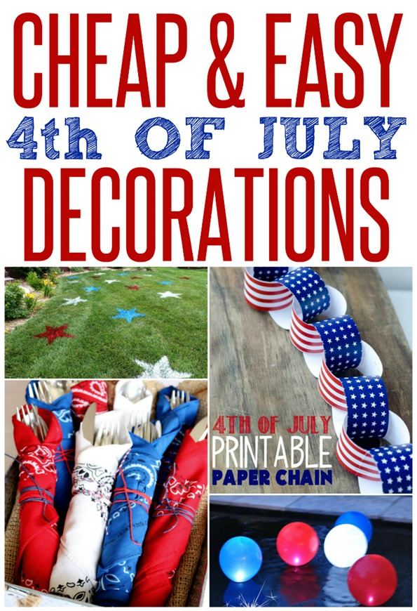 Cheap And Easy Patriotic Party Decorations