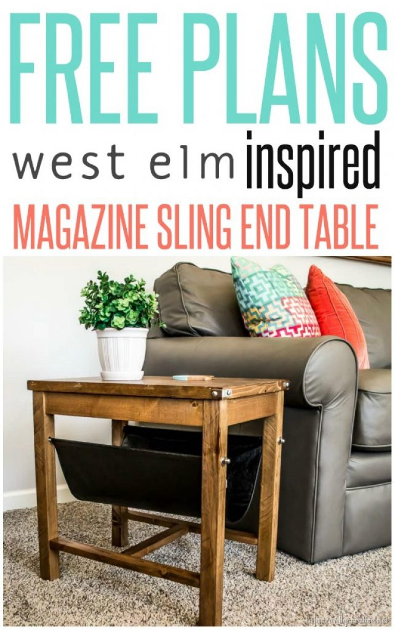 West elm leather sling side table knock off infarrantly for West elm c table