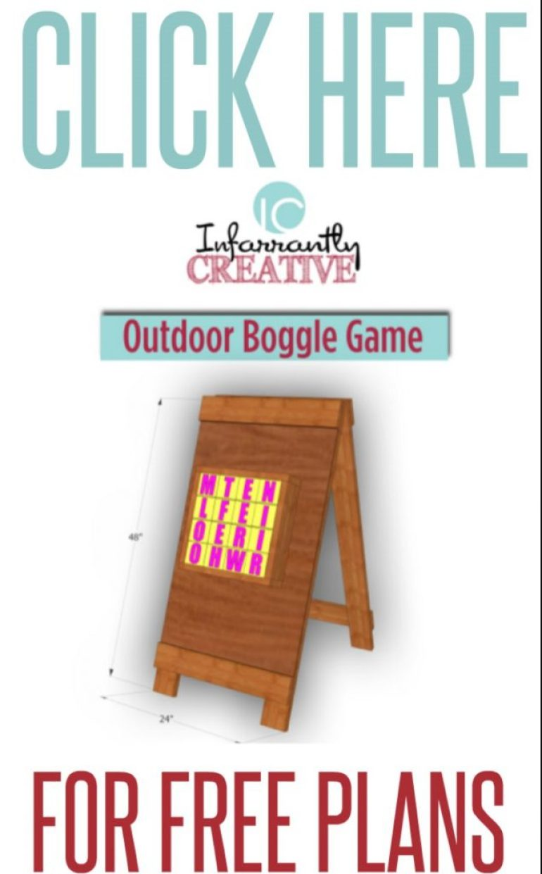 free plans for outdoor boggle game