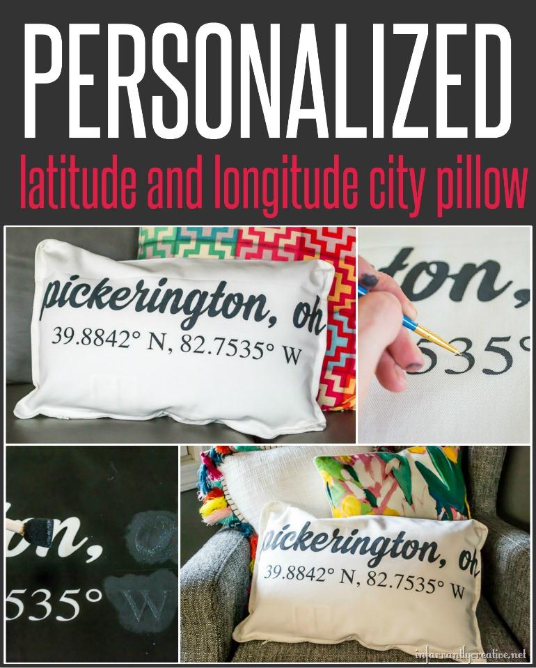 Latitude and Longitude Custom Pillow