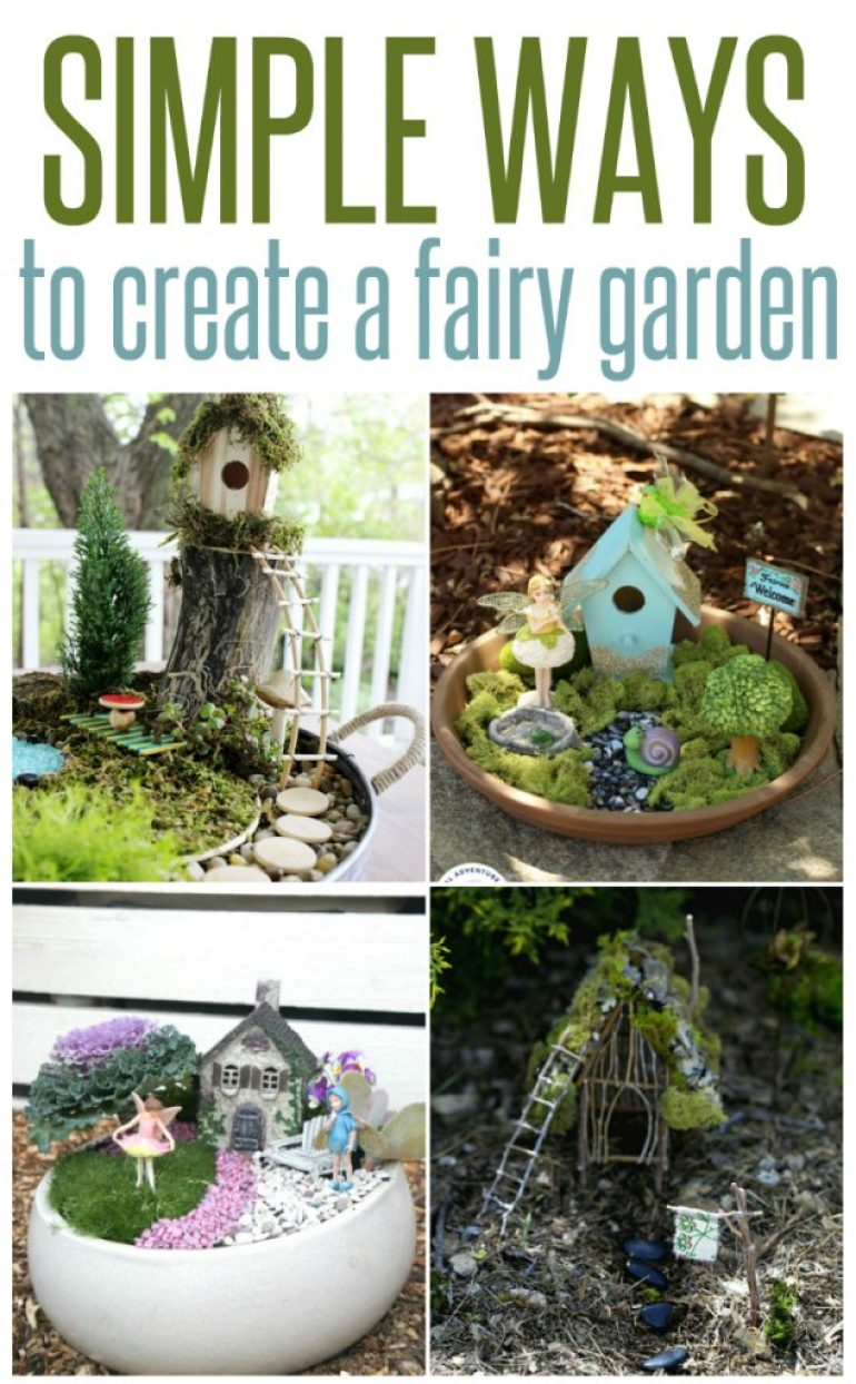 ways to create a fairy garden