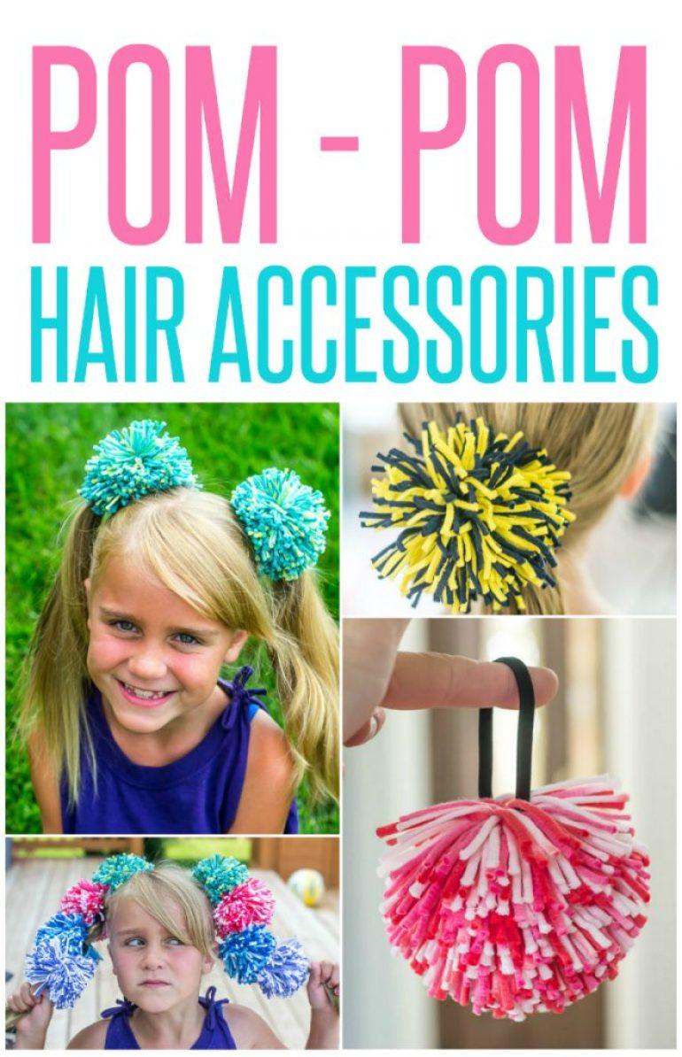 how-to-make-pom-pom-hair-accessories