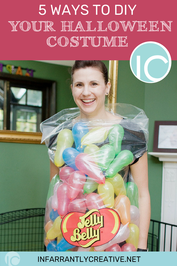 lady dressed in jelly belly halloween costume