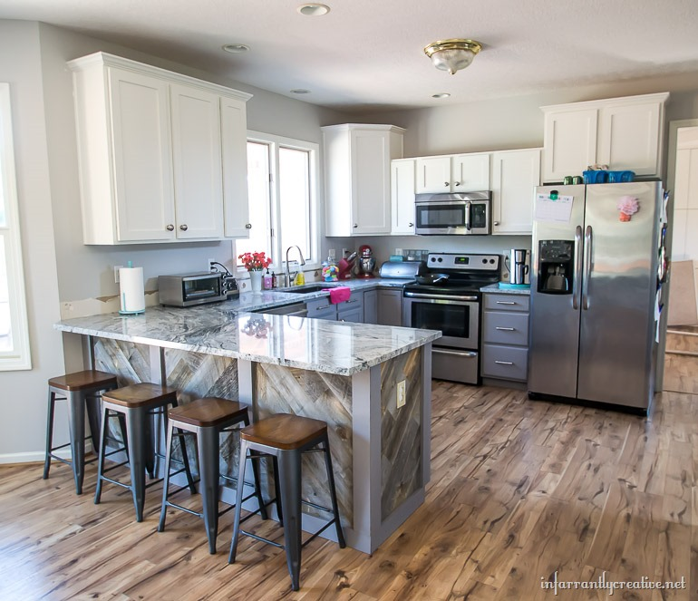 gray-and-white-kitchen-cabinets