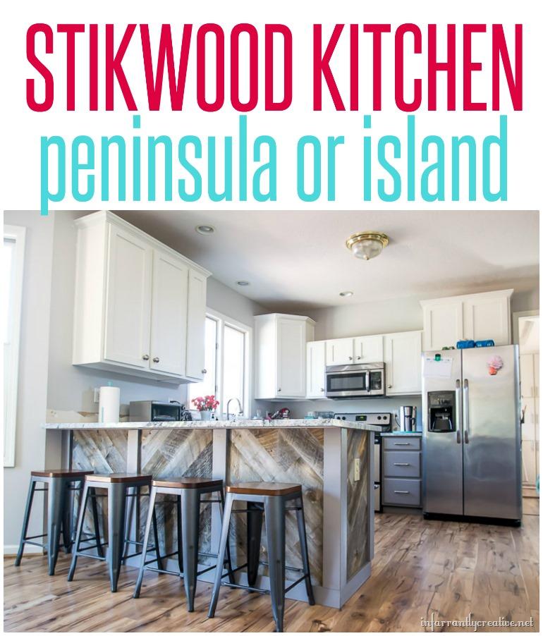 stikwood kitchen island or peninsula
