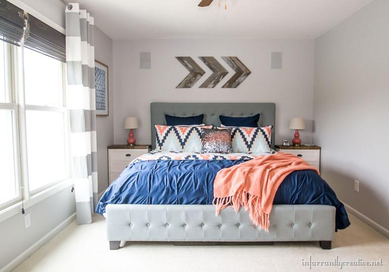Coral Navy Bedroom