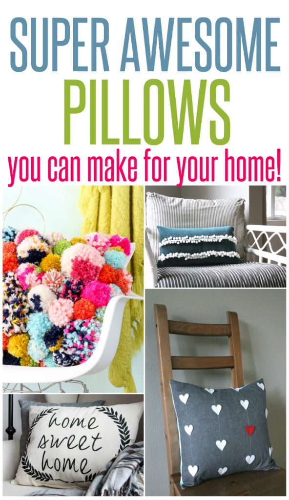 5 Super Awesome Pillows You Can Make at Home
