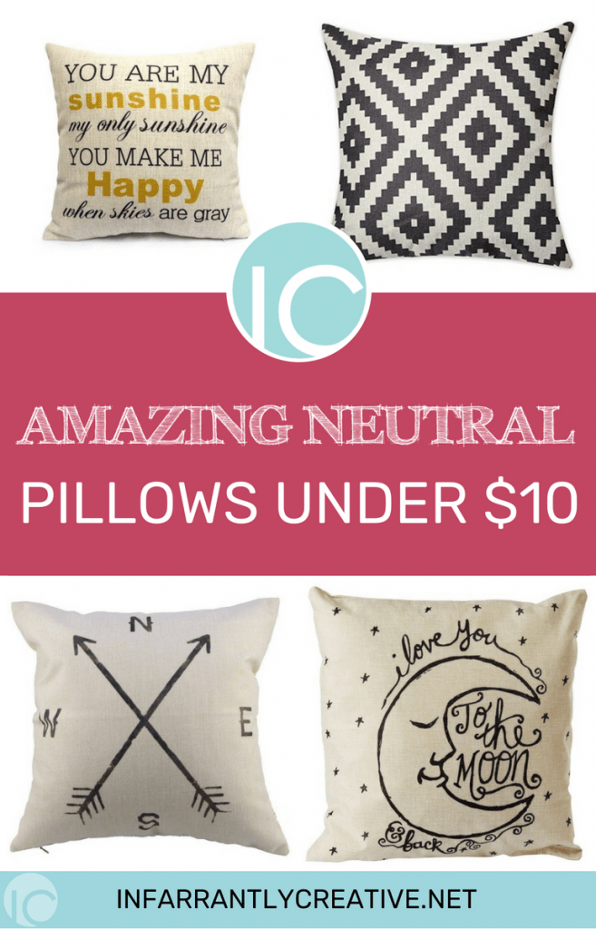 Amazing Neutral Pillows under $10