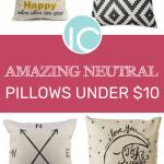 Amazing Neutral Pillows Under $10