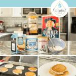 Cinnamon Vanilla Protein Pancakes