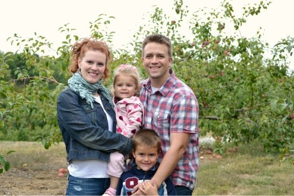 family apple picking in 2011