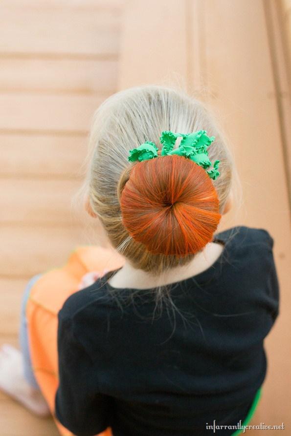 Halloween Hair Bun