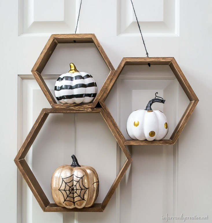 Hexagon Halloween Wreath